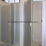 puertas con panel de aluminio