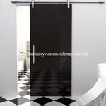 puerta deslizante pintura negra