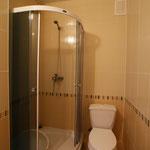 Душ,туалет,где для Вас приготовлены три полотенца - для тела, для лица, для ног ! Горячая - холодная вода всегда !