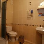 Душевая кабинка, туалет, умывальник, несколько полотенец для лица, тела и ног !