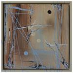 Waterhole_Etosha (Waterhole_Aus, Waterhole_Okawao & Waterhole_Nebrowni), 3 x 30 x 30 cm, Acryl auf Untergrundplatte im Holzrahmen