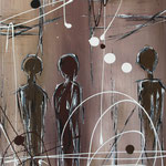 das Paar und der Andere, 40 x 50 cm, Acryl auf Leinwand