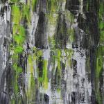 Green Wall, 60 x 80 cm, Acryl auf Leinwand - Verkauft
