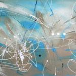 Meeresverwandlung, 80 x 120 cm, Acryl auf Leinwand