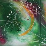 Frühlingsverwandlung, 80 x 180 cm, Acryl auf Leinwand