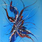 Blueredliner, 40 x 50 cm, Acryl auf Leinwand - Verkauft