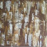 Braun Wall, 120 x 80 cm, Acryl auf Leinwand - Verkauft