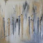 on the Street , 80 x 80 cm, Acryl auf Leinwand