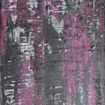 bema Wall, 30 x 60 cm, Acryl auf Leinwand - Verkauft