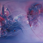 Reddot Liner, 100 x 80 cm, Acryl auf Leinwand