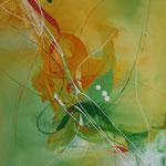 Orange Verwandlung, 60 x 80 cm, Acryl auf Leinwand