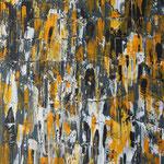 indienyellowwall, 80 x 100 cm, Acryl auf Leinwand