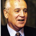 Gorbatchev (1931-), à la tête de l'URSS en 1985 jusqu'en 1991
