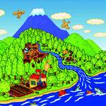 富士山森の会パンフレット用イラスト