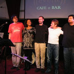EVENT CAFE, Wien mit Stella Jones/voc, Peter Natterer/sax, Otto Scheidl/bass, Peter Barborik/drums, Georg Henke/keys