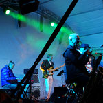FALCO CONVENTION BAND, Gamlitz okt 2019 Georg Henke/key, Werner Laher/bass, Otmar Klein/sax