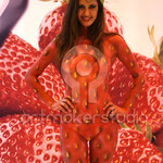 Strawberry Body Painting para Cuna de Platero. IFEMA 2013