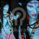 Body Painting Avatar. Hotel Me Madrid 2010