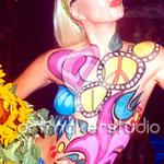 Body Painting PACHA IBIZA. FLOWER POWER