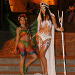 White Body Paintings. Full Moon Party , Queen & Color Fairy