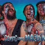 """BODY PAINTING MOJINOS ESCOZIOS. Portada del nuevo disco """"Semos unos Maquinas"""""""