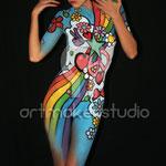 Body Paint Flower Power. POP ART NASEL