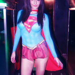 Super Girl Body Painting