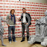 Esculturas vivientes de CIBELES Y NEPYUNO. Rueda de prensa con Iker Casillas y Forlan 2010
