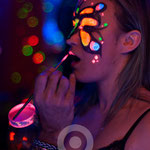 Butterfly Face Painting Fluor Party Madrid