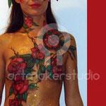 Body Paint RED ROSES. Brassa de Mar Valencia 2008