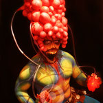 ´Body Painting Alien, Halloweem 2014 Discoteca Titos Palma de Mallorca