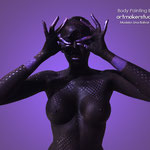 Body Paint Black & Purple