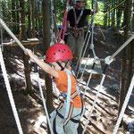 Klettern im Waldseilpark