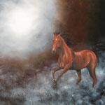 cheval des brumes. huile sur toile (100 x 81)