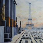 Paris brume-t-il? huile sur toile (100 x 81)
