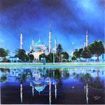 Reflets d'Istambul huile sur toile 90 x 90 (non disponible)