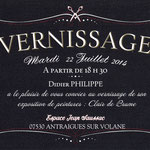l'invitation au vernissage