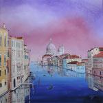 Reflets de Venise huile sur toile 90 x 90