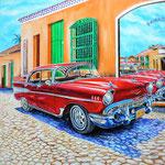 Reflets de Cuba, huile sur toile 90 x 90 (non disponible)