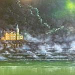 Brume d'Ecosse. huile sur toile (100 x 81)