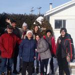 avec nos hôtes - Lac St Jean - Janvier 2016
