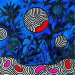 "Virginie GUIDEE, ""Phosphorescence"", Huile sur toile, 80x80 cm, 2019"