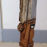 """MOSS, """"le bois des hommes 3"""", Série, Chêne des palissades Lafranqui (Aude), vernis, 60cm, oeuvre disponible à l'emprunt"""