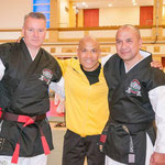 Gathering of the world masters 2015. V.l.n.r. Frank Lader, master Wong, Derby Haagsma