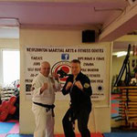 Grandmaster Stuart Hicken & Frank Lader in Bridlington Martial Arts & Fitness Centre 7 mei 2016
