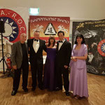 Suisse Hall of Honour, 23 september 2017. Met Bill 'Superfoot' Wallace, Cynthia 'Lady Dragon'  Rothrock  en Samuel Kwok.