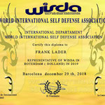 Representant voor 2020 van de World International Self Defense Association (WISDA).