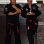 Freddy Bar en Frank Lader tijdens gezamenlijke workshops in Viersen (D).