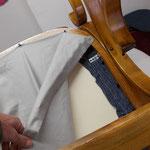 und diesmals wird der Sitz angeschraubt (nicht nur geklebt) und verspannt