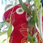 Tierchenpolster rot